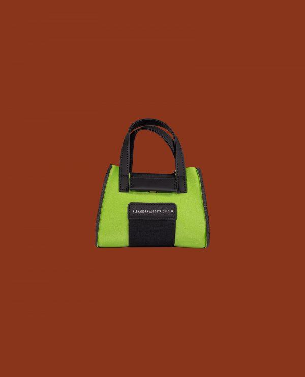 Lime Metal Micro Bag Alexandra Alberta Chiolo