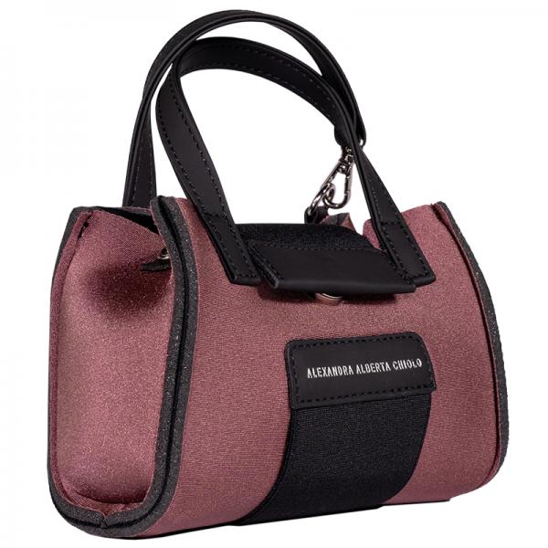 Terra Metal Micro Bag Alexandra Alberta Chiolo_Tre_Quarti